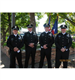 Four Police Officers in Dress Uniform