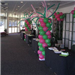 The Atrium Lobby Decorated in Pink and Green Ballons