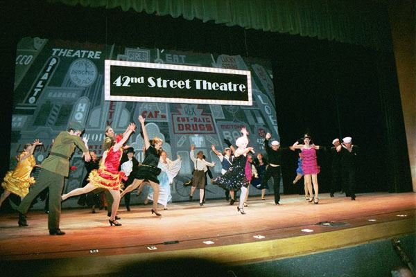 42nd Street Theatre Cast Members on Stage