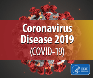 Coronavirus image that links to CDC website